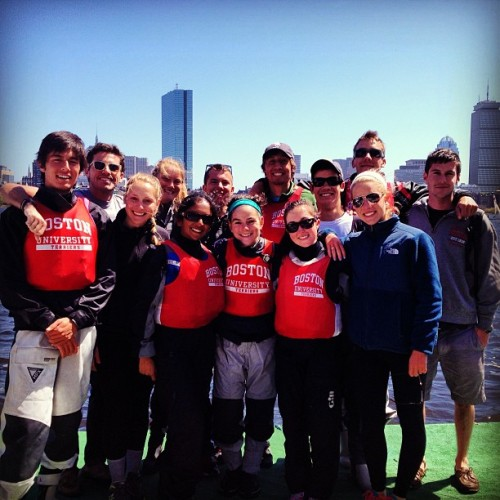 The BU Sailing Team at the New England Team Race Champs this past spring.