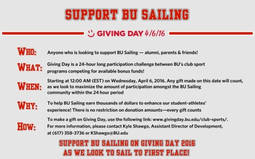 Giving Day - Sailing